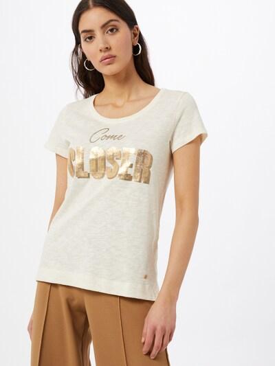 MOS MOSH Тениска 'Marple' в екрю / злато: Изглед отпред