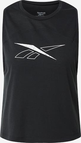 juoda Reebok Sport Sportiniai marškinėliai be rankovių