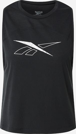 Reebok Sport Športový top - čierna / biela, Produkt