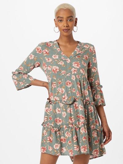 VERO MODA Shirt dress 'SIMPLY' in Brown / Mint / Rose / White, View model