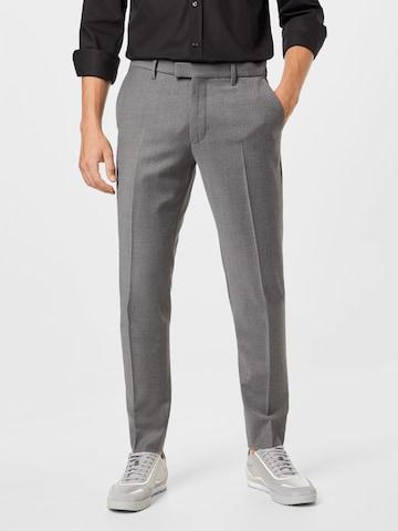 DRYKORN Bukse med strykepress 'PIET' i grå
