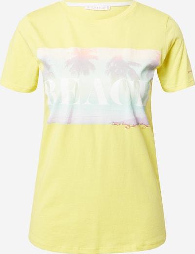 Stitch and Soul T-shirt en jaune / menthe / blanc, Vue avec produit