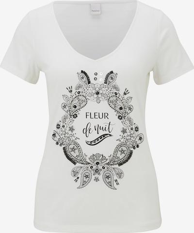 heine Shirt in ecru / schwarz / weiß, Produktansicht