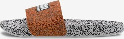 PUMA Strand-/badschoen in de kleur Sinaasappel / Wit, Productweergave