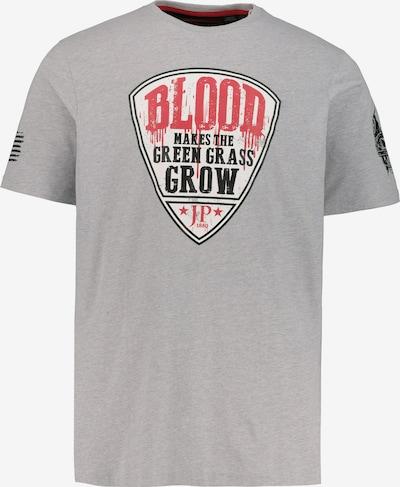 JP1880 Shirt in grau / graumeliert / feuerrot / schwarz / weiß: Frontalansicht