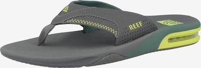 REEF Strand-/Badeschuh ' Fanning ' in gelb / grau / grün, Produktansicht