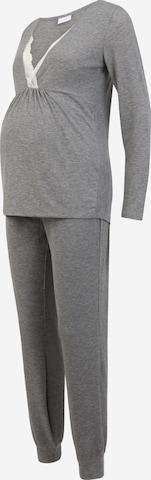 MAMALICIOUS Pyjama 'Kehla' in Grau