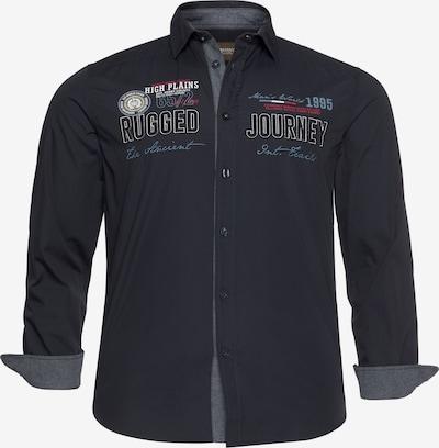 Man's World Hemd in nachtblau / rot / schwarz / weiß, Produktansicht