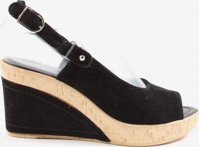 Anne L. Plateau-Sandalen in 36 in creme / schwarz, Produktansicht