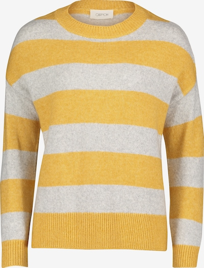 Cartoon Pullover in gelb / grau, Produktansicht