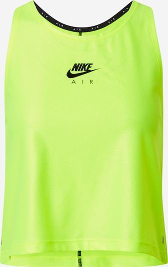 Nike Sportswear Haut 'Air' en jaune clair / noir, Vue avec produit