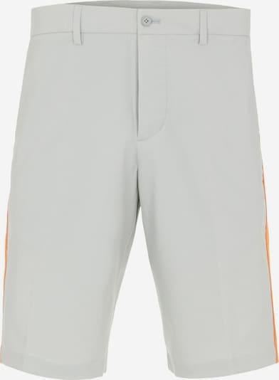 J.Lindeberg Sportbroek 'Ross' in de kleur Grijs / Sinaasappel, Productweergave