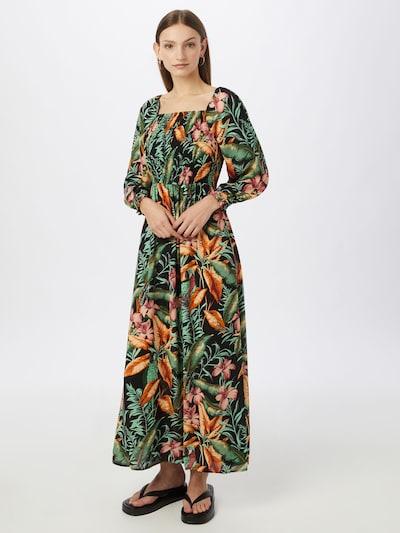 JDY Mekko 'MINA' värissä ruohonvihreä / oranssi / melooni / musta, Mallinäkymä