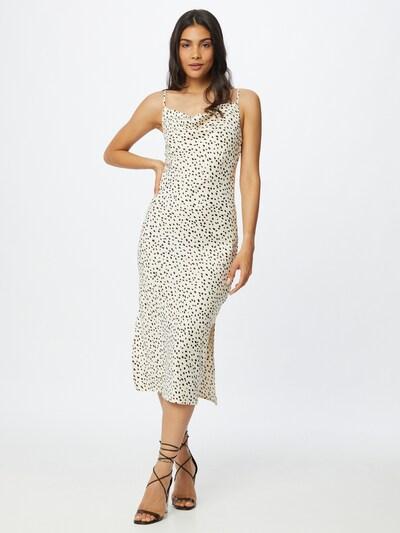 Gina Tricot Kleid 'Satina' in schwarz / wollweiß, Modelansicht