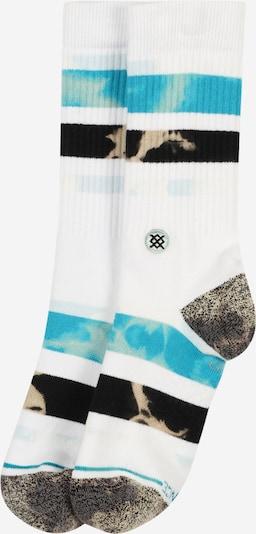 Stance Sportsokken 'BRONG' in de kleur Donkerbeige / Turquoise / Zwart / Wit, Productweergave