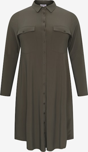 Yoek Robe-chemise en kaki, Vue avec produit