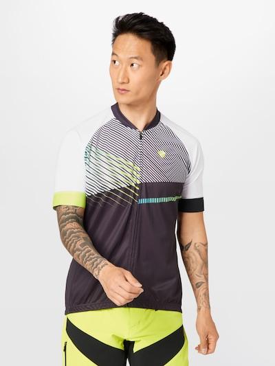 ZIENER Sportshirt 'NOFRET' in grau / limette / schwarz / weiß: Frontalansicht