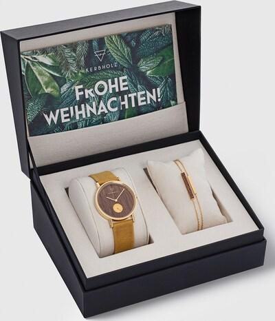 Kerbholz Uhr + Armband in gelb, Produktansicht