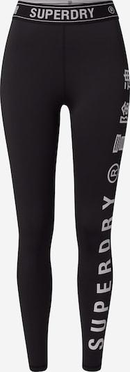 Superdry Спортен панталон в черно / бяло, Преглед на продукта