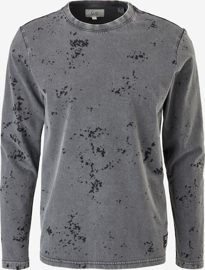 Q/S by s.Oliver Shirt in grau / schwarz, Produktansicht