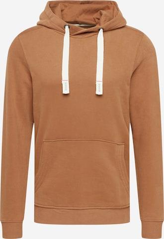 TOM TAILOR Sweatshirt in Brown