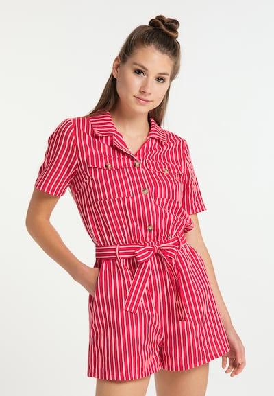MYMO Jumpsuit in rot / weiß, Modelansicht