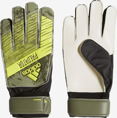 ADIDAS PERFORMANCE Sporthandschuhe in gelb / khaki / schwarz, Produktansicht