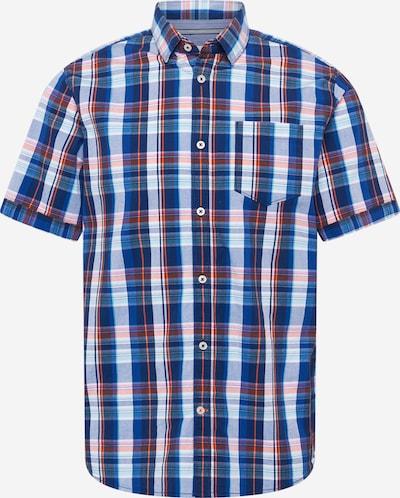 TOM TAILOR Hemd in navy / rauchblau / royalblau / orange / weiß, Produktansicht