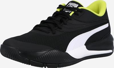 PUMA Chaussure de sport en vert fluo / noir / blanc, Vue avec produit