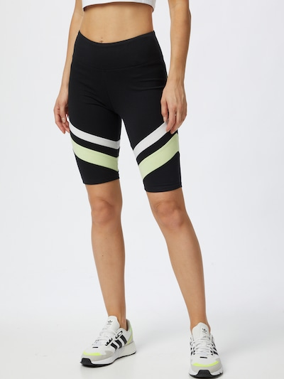 ESPRIT SPORT Sporta bikses, krāsa - pasteļzaļš / melns / balts, Modeļa skats
