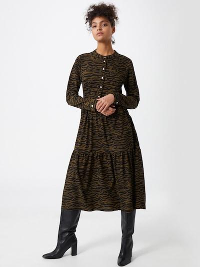 Kaffe Kleid 'Kirala' in dunkelgrün / schwarz, Modelansicht