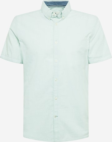 TOM TAILOR Button Up Shirt in Green