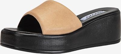 INUOVO Muiltjes in de kleur Beige / Zwart, Productweergave