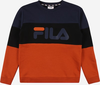 FILA Sweatshirt 'WILLY' in nachtblau / orange / schwarz, Produktansicht
