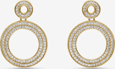 MOSUO JEWELLERY Boucles d'oreilles 'Aria' en or / transparent, Vue avec produit