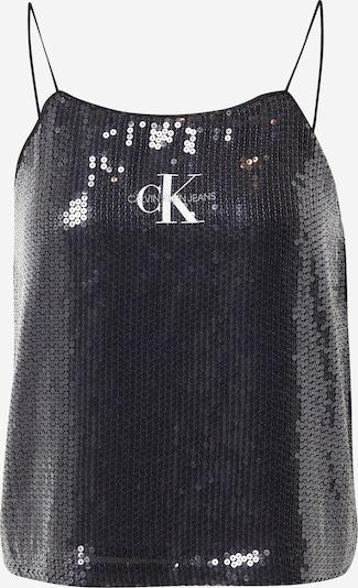 Top Calvin Klein Jeans pe negru / argintiu / alb, Vizualizare produs