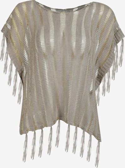 Usha Pullover in beige / gold / transparent, Produktansicht