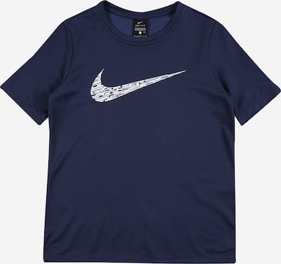 NIKE Funkcionalna majica | mornarska / bela barva, Prikaz izdelka