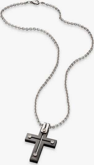 SAVE BRAVE Kette  'Julius' in schwarz / silber, Produktansicht