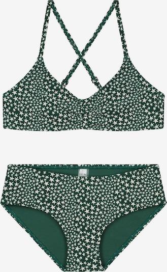 Shiwi Bikini in smaragd / weiß, Produktansicht