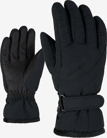ZIENER Skihandschuhe 'KILENI PR lady glove' in Schwarz