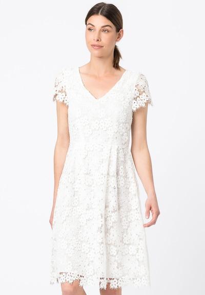 HALLHUBER Spitzenkleid mit kurzen Ärmeln in weiß, Modelansicht