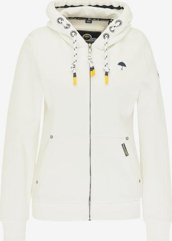 Schmuddelwedda Zip-Up Hoodie in White