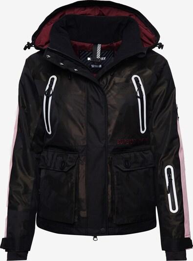 Superdry Sportjas in de kleur Kaki / Zwart / Wit, Productweergave