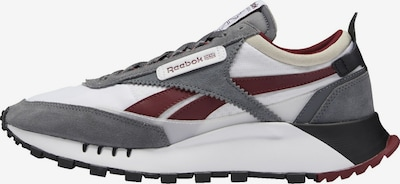 Reebok Classic Sneaker 'Legacy' in grau / weinrot / weiß, Produktansicht