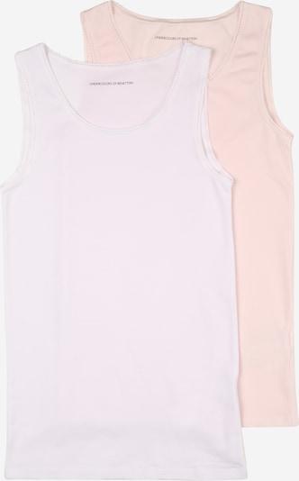 UNITED COLORS OF BENETTON Apakškrekls rožkrāsas / balts, Preces skats