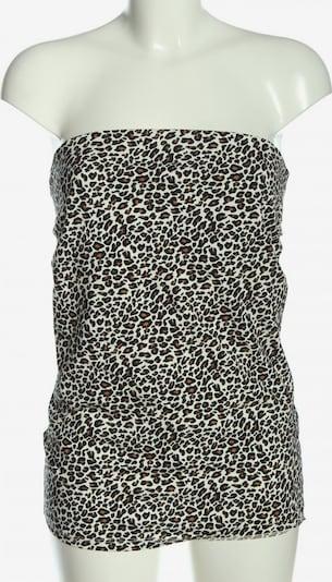 MELROSE ärmellose Bluse in XL in braun / schwarz / weiß, Produktansicht