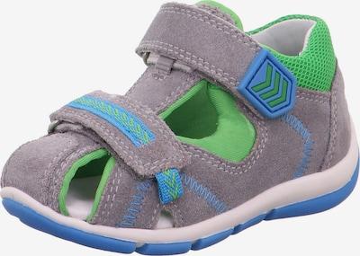 SUPERFIT Sandale 'Freddy' in himmelblau / grau / hellgrün, Produktansicht