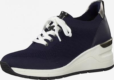 Earth Edition by Marco Tozzi Sneaker in navy / silber, Produktansicht