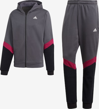 ADIDAS PERFORMANCE Tracksuit in Grey / Pink / Black, Item view